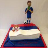 Branislav Ivanovic's birthday cake