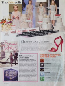 Cakes by Robin in Brides magazine July August 2014