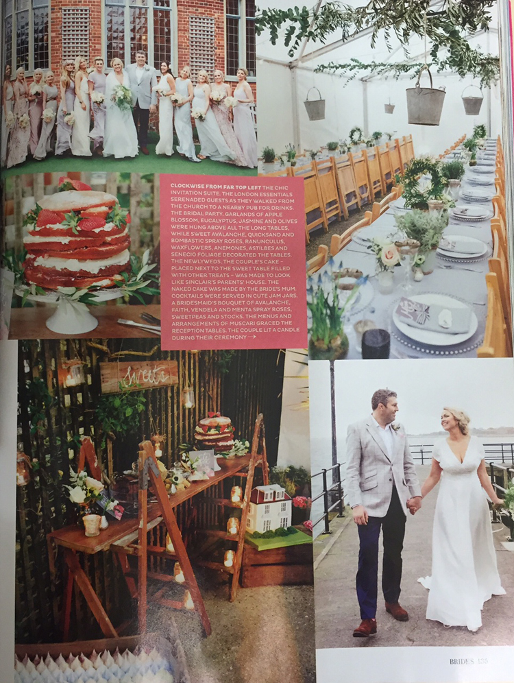 Cakes by Robin in Brides magazine Nov-Dec 2015