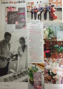Cakes by Robin in Brides magazine Nov-Dec 2015