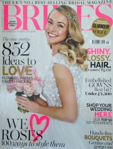 Cakes by Robin in Brides magazine Sept/Oct 2015