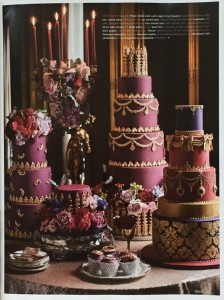 Cakes by Robin in Brides magazine July August 2016
