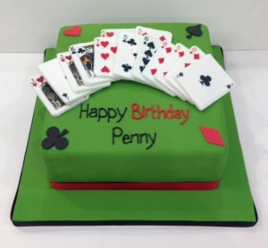 bridge card game birthday cake