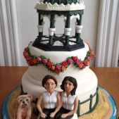 Brighton Band stand wedding cake