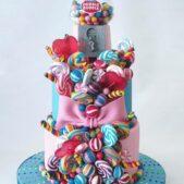 Bubble gum cake