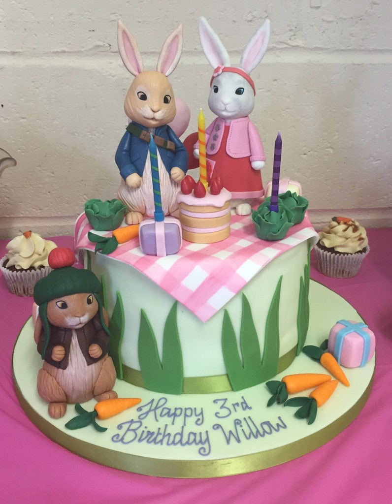 Peter Rabbit themed cake CBeebies