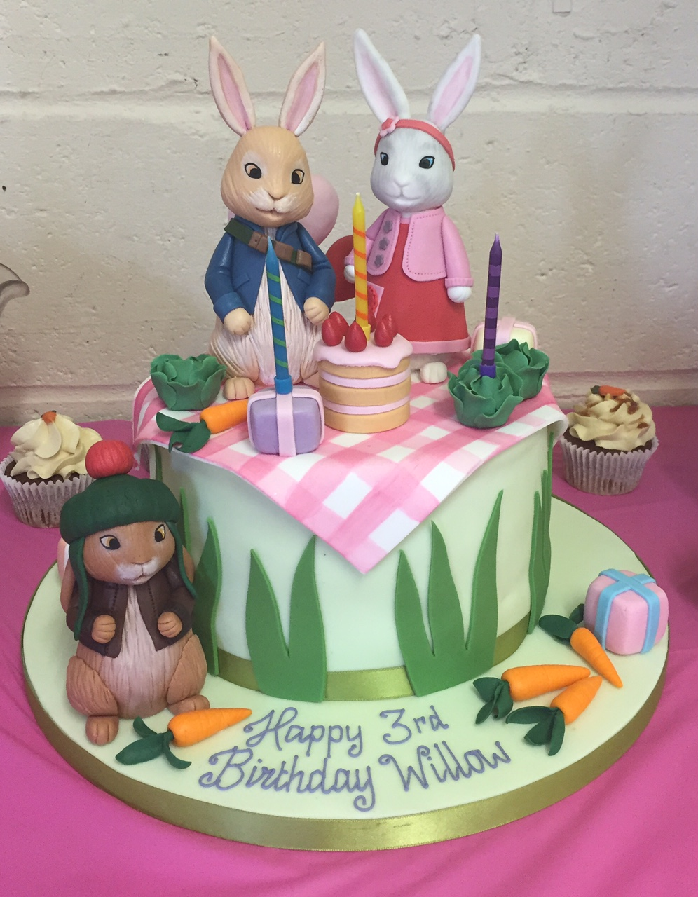 Remarkable Peter Rabbit Dessert Table Cakes By Robin Personalised Birthday Cards Epsylily Jamesorg