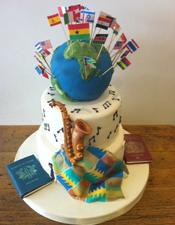 Birthday cake featuring interest
