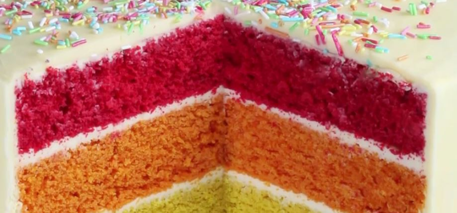 how to make a rainbow cake by cakes by robin