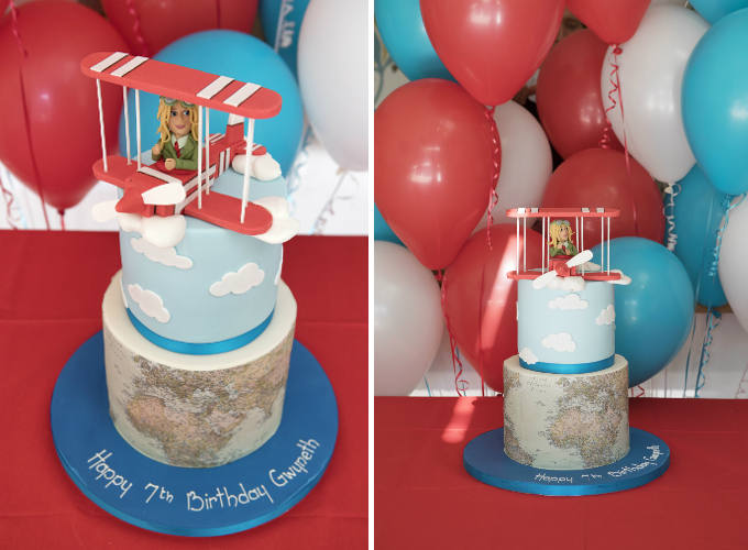 Cakes by Robin - Boggio Studios Gwyneth 7th Birthday Cake Image Side by Side