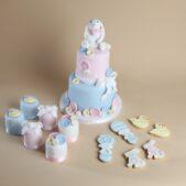 Bunny baby shower cake