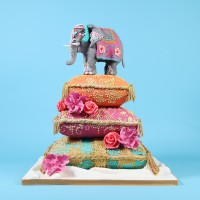 Indian elephant wedding cake by Cakes by Robin
