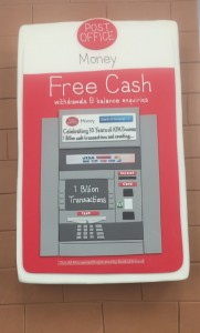 Cash machine cake
