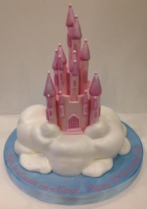 Castle on a cloud birthday cake