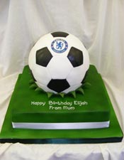 Chelsea themed football cake