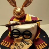 Childrens Birthday Cakes Harry Potter Themed Cake Waylon