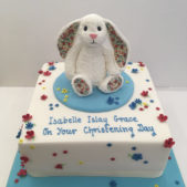 Christening Rabbit Cake
