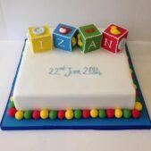Christening cake multicoloured