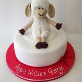 Christening cake sheep