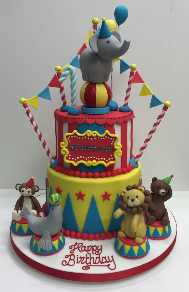 Circus childrens birthday cake