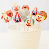 Circus themed cake pops