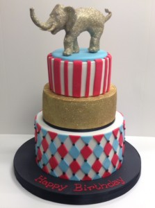 Circus birthday cake for adults
