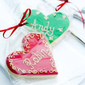 Cookie place name wedding favours