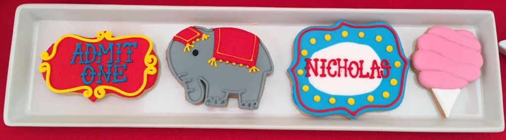 Circus themed cookies