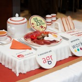 Corporate all day breakfast cake