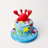 Crab themed 1st birthday cake