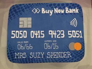 Corporate credit card cake