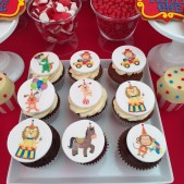 Cupcakes with trasnfer images