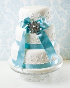 Snow Queen wedding cake