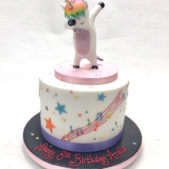 Dabbing Unicorn birthday cake