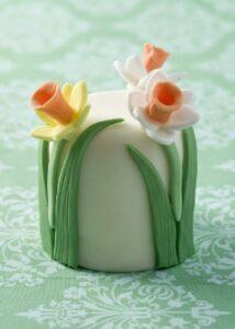 Spring blossom mini wedding cake