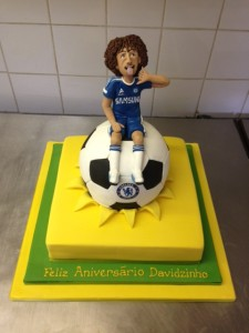 David Luiz Chelsea birthday cake