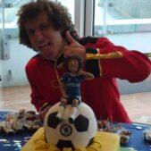 David Luiz with his cake