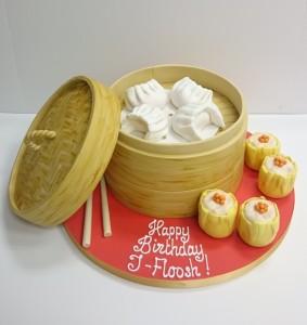 Dim sum birthday cake