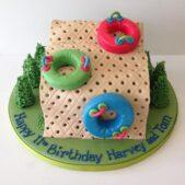 Dry ski slope cake