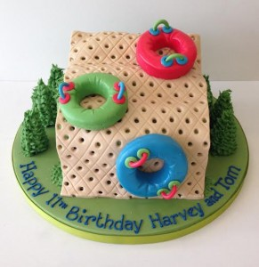 Ringo dry ski slope themed cake