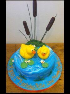 Duck birthday cake