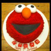 2D Elmo cake