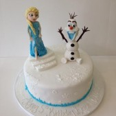 Elsa and Olaf sugar models