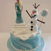 how to make an olaf cake
