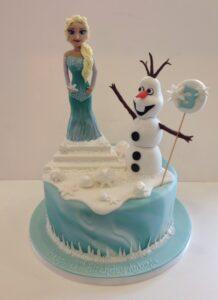 Elsa sugar model birthday cake