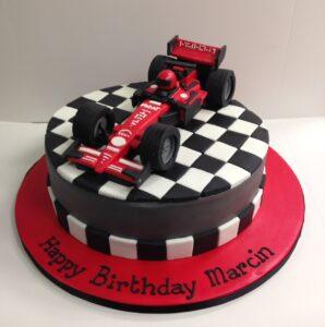 Formula 1 car birthday cake