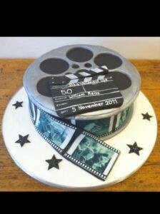 Film can birthday cake