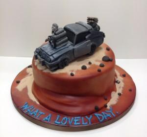 Mad Max car birthday cake