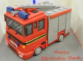 3D Fire Engine birthday cake