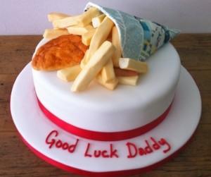 Fish & Chips birthday cake